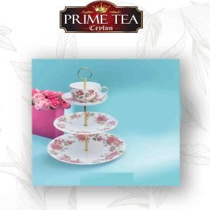 Pink Garden Cosmiya Porcelain Cake Stand